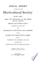 Annual Report of the Iowa State Horticultural Society for the Year