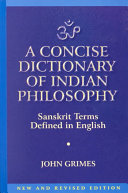 A Concise Dictionary of Indian Philosophy