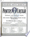 The Printers Circular And Stationers And Publishers Gazette