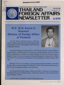 Thailand  Foreign Affairs Newsletter