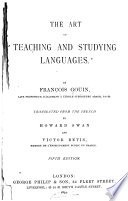 The Art of Teaching and Studying Languages Book PDF