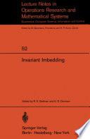 Invariant Imbedding