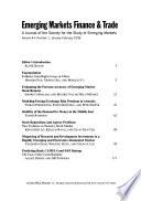 Emerging Markets Finance & Trade