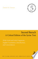 Second Baruch A Critical Edition Of The Syriac Text