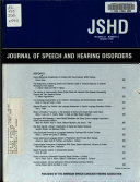 Pdf The Journal of Speech and Hearing Disorders