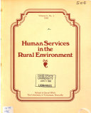 Human Services In The Rural Environment