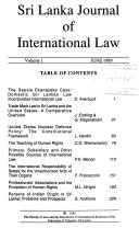 Sri Lanka Journal of International Law