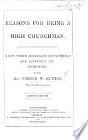 Reasons for being a High Churchman     Second edition
