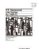 U S Decennial Life Tables For 1989 91 No 41