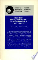 Studies In Public Employment And Compensation In Canada