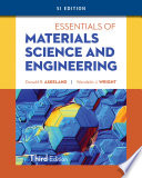 Essentials of Materials Science   Engineering  SI Edition Book