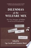 Dilemmas of the Welfare Mix
