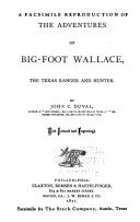A facsimile reproduction of The adventures of Big-foot Wallace
