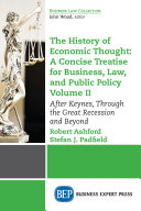 Pdf The History of Economic Thought: A Concise Treatise for Business, Law, and Public Policy Volume II Telecharger
