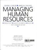 Managing Human Resources   Productivity  Quality Of Work Life  Profits