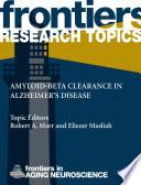 Amyloid-beta clearance in Alzheimer's disease