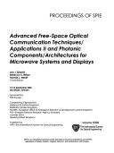 Advanced Free-space Optical Communications Techniques/applications II ; and