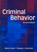 Criminal Behavior Book