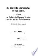 Die bayerische Oberrealschule vor 100 Jahren