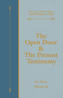 The Open Door & The Present Testimony [Pdf/ePub] eBook