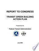 Transit Green Building Action Plan  Report to Congress