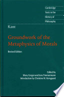 link to Groundwork of the metaphysics of morals in the TCC library catalog