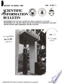 Scientific Information Bulletin Book