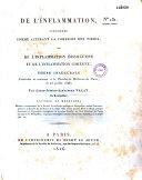 De l'inflammation, considérée comme altérant la cohésion des tissus ou de l'inflammation dissolutive et de l'inflammation cohésive ebook