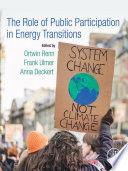 The Role of Public Participation in Energy Transitions Book