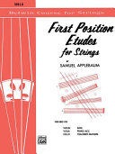 Pdf First Position Etudes for Strings Telecharger