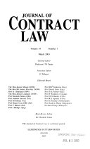 Journal of Contract Law