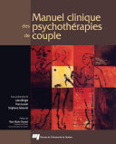 Manuel Clinique Des Psychothe ́rapies de Couple