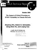 The Impact of Global Warming on ENSO Variability in Climate Records