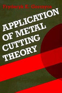 Application of Metal Cutting Theory