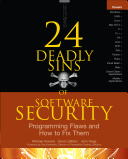 24 Deadly Sins of Software Security  Programming Flaws and How to Fix Them