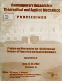 Program and Abstracts for the ... U.S. National Congress of Theoretical and Applied Mechanics