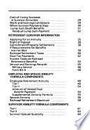 Railroad Retirement and Survivor Benefits Book