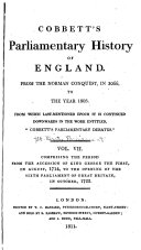 Cobbett's Parliamentary History of England ebook