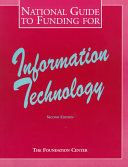 National Guide to Funding for Information Technology Book