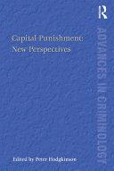Capital Punishment: New Perspectives Pdf/ePub eBook