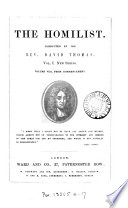 The Homilist  Or  The Pulpit For The People  Conducted By D  Thomas  Vol  1 50  51  No  3  Ol  63