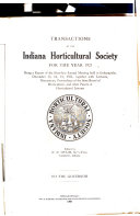 Transactions of the Indiana Horticultural Society