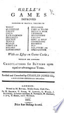 Hoyle s Games improved     Revised     by Charles Jones     A new edition enlarged