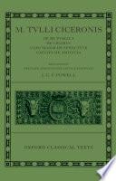 M  Tulli Ciceronis De Re Publica  De Legibus  Cato Maior de Senectute  Laelius de Amicitia