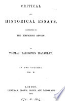 Critical and historical essays, contributed to The Edinburgh review