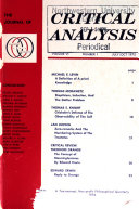 The Journal of Critical Analysis