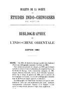 Bulletin de la Société des études indo-chinoises