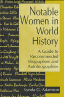 Notable Women In World History