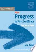 New Progress to First Certificate Teacher's Book