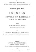 Johnson  History of Rasselas  prince of Abyssinia  ed  with intr  and notes by G B  Hill